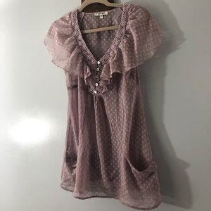 Sheer sleeveless blouse by Daniel Rainn size Small